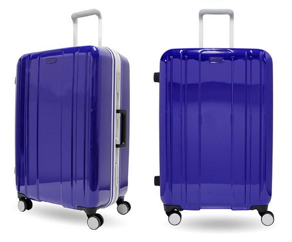 CROWN皇冠 Traveler Station (促銷價6折) 繽亮鋁框拉桿箱 行李箱/旅行箱-28吋-紫