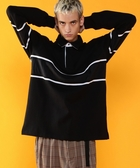 出清 男裝 拼接 寬版上衣 橄欖球衫 UTILITY LINE  日本品牌【coen】