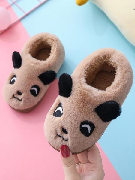 兒童棉拖鞋包跟可愛卡通小中大孩子男女童寶寶棉鞋室內居家防滑冬 格蘭小鋪