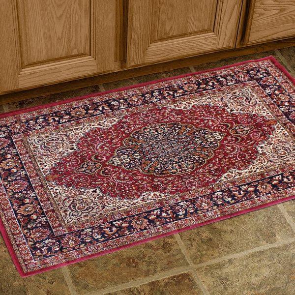 范登伯格 紅寶石輕柔絲質感地毯-踏墊-門墊-喜藤-50x70cm