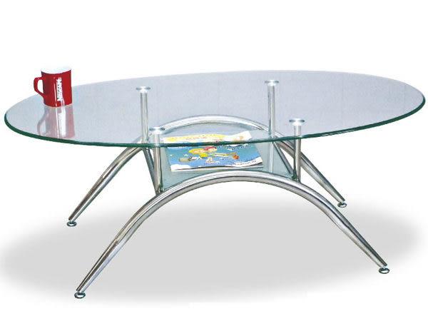 8號店鋪 森寶藝品傢俱 b-22 品味生活 客廳 茶几 系列182-3 橢圓玻璃茶几