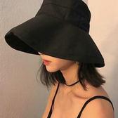 【潮汐】夏天太陽帽女純色大沿漁夫帽子女戶外休閒遮陽帽防曬盆帽
