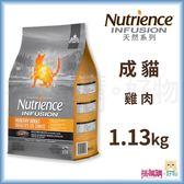Nutrience紐崔斯『 INFUSION天然成貓 (雞肉)』1.13kg【搭嘴購】
