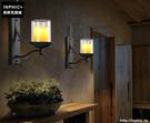 INPHIC- 美式鄉村風格臥室牆燈歐式復古走廊玻璃單頭鐵藝蠟燭台壁燈-F款_S197C