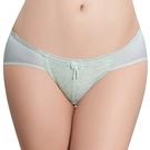 思薇爾-透輕涼系列M-XL蕾絲低腰三角內褲(桔梗綠)