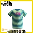 【The North Face 女童 快乾短袖T恤《青藍/芽綠》】CC0H/快速排汗/輕量/運動上衣