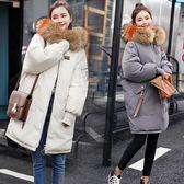 羽絨外套 中長款羽絨棉衣女面包服韓版冬季新款大毛領棉服加厚