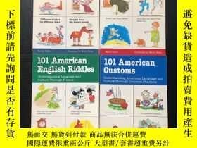 二手書博民逛書店101罕見American English Riddles Customs Proverbs idioms 一套4