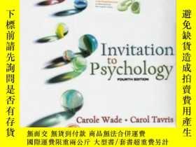 二手書博民逛書店Invitation罕見To Psychology-心理學邀請Y436638 Carole Wade; Car