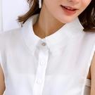 朵曼堤.假領子 雪紡紗上衣氣質尖領氣質浪漫蕾絲領子尖領韓版針織衫洋裝[E30301] 預購