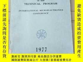 二手書博民逛書店proceedings罕見of the technical program 1977(P2782)Y17341