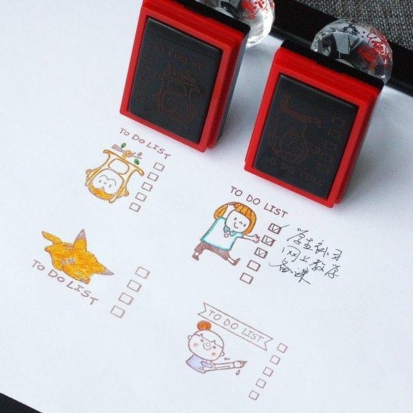 【發現。好貨】【買就送墨水喔!】韓國光敏印章 to do list 系列打卡專用印章 手帳印章 皮卡丘