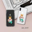iPhone系列 插畫風俏皮柴犬透明 防...