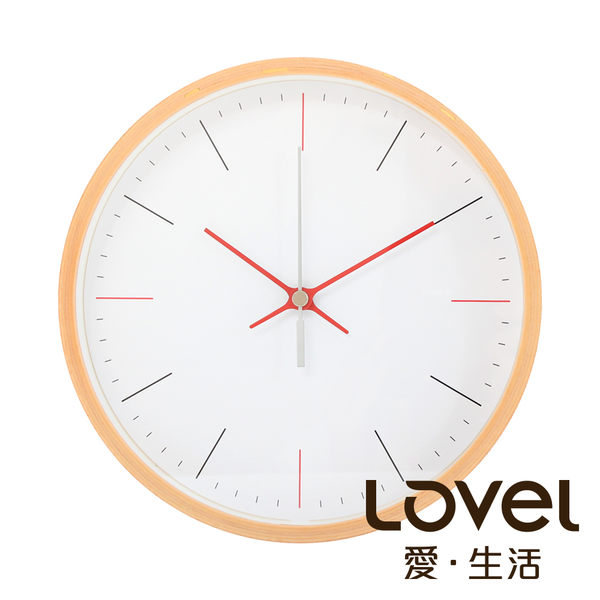 Lovel 20cm日系木質靜音時鐘- 共5款
