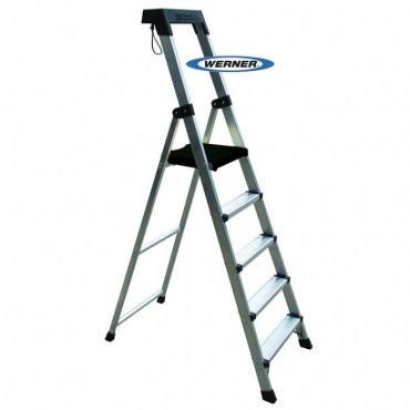 美國Werner穩耐安全鋁梯-P275AS 大平台5階家用梯/A字梯