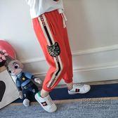 ✡老闆定錯價✡  女童運動褲童女兒童收腳褲子條紋燈籠褲九分褲