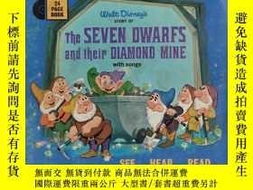 二手書博民逛書店迪士尼原版繪本:《The罕見SEVEN DWARFS and their DIAMOND MINE-七個小矮人和他