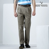 【Emilio Valentino】范倫鐵諾簡約紳士休閒褲_卡其