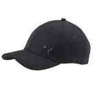 Puma 黑色 帽子 運動帽 老帽 遮陽帽 六分割帽 金屬LOGO 運動帽 02126901
