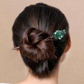 頭髮髮簪釵成人頭飾盤髮簪子古典復古步搖飾品宮廷古風髮飾木女