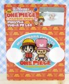 【震撼精品百貨】One Piece_海賊王~車用吸盤告示牌-喬巴+魯夫