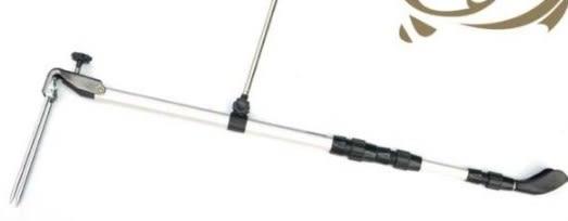 [協貿國際] 1.5米鋁合金砲台支架台釣竿 3個價