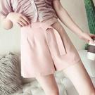 短褲子女夏季新款雪紡高腰休閒褲短款寬鬆百搭學生顯瘦闊腿褲