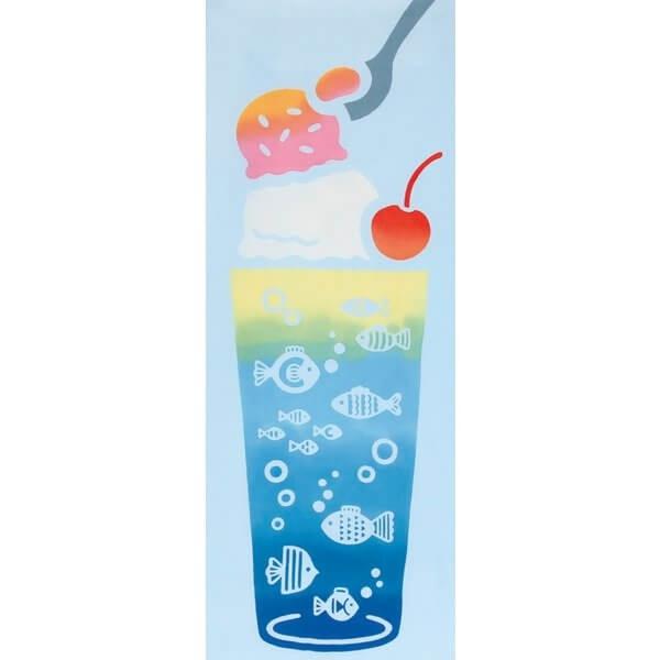 【日本製】【和布華】 日本製 注染拭手巾 冰淇淋蘇打圖案 SD-5019 - 和布華