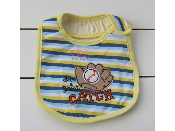 ◎愛寶貝◎A1243285爆款可愛寶寶必備三層防水刺繡口水巾/圍嘴/圍兜/05號(實品拍攝)