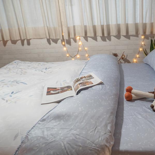 天絲床組 新羽 D4雙人薄床包與兩用被四件組 台灣製(40支) 100%天絲 棉床本舖