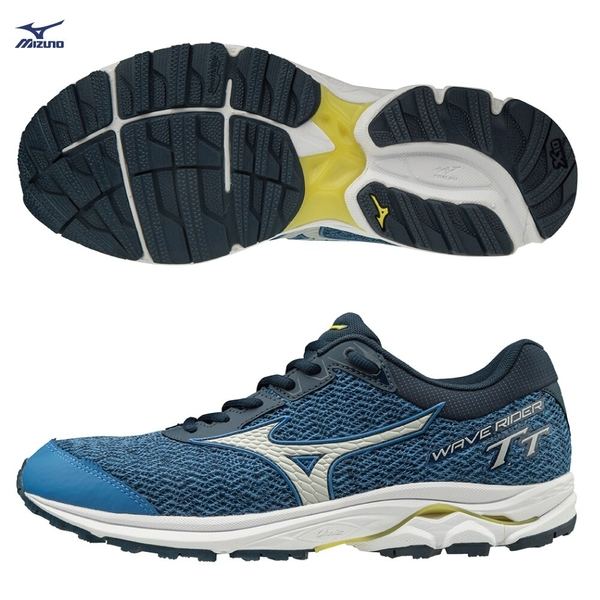 MIZUNO WAVE RIDER TT 男鞋 慢跑 路跑 越野 避震 穩定 DROP 12mm 藍【運動世界】J1GC193239