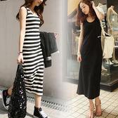 夏季歐美風莫代爾長裙正韓女士洋裝打底吊帶背心裙中大尺碼