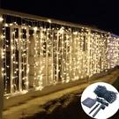 led星星太陽能戶外庭院燈防水花園別墅景觀裝飾露臺陽臺彩燈串燈 果果輕時尚