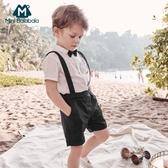 男童短袖短褲套裝夏裝透氣寶寶洋氣潮裝童裝