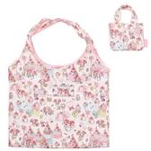〔小禮堂〕美樂蒂 折疊尼龍環保購物袋《粉.草莓蛋糕》手提袋.環保袋 4580433-07922
