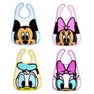 日貨 正版迪士尼大臉防水圍兜兜  Disney 米奇 米妮 唐老鴨 黛西 防水用 大臉款 寶寶用餐