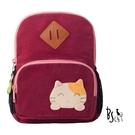 【ABS貝斯貓】貓咪後背包 可愛貓咪手工拼布小型後背包(紅色88-211)【威奇包仔通】