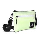 Nike 斜背包 Air Jordan Mini Shoulder Bag 綠 黑 銀 男女款 喬丹 反光 螢光色 運動休閒 【ACS】 JD2123011GS-003