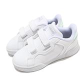 adidas 休閒鞋 Roguera I 白 銀 童鞋 小童鞋 魔鬼氈 皮革鞋面 運動鞋 【ACS】 FW3292
