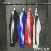 薄款運動夾克衫男士韓版棒球服防曬衣青少年學生外套潮流男裝 「潔思米」
