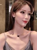 925銀天鵝項鏈玫瑰金時尚黑天鵝鎖骨鏈滿鉆經典純銀飾品女