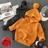 兒童可愛洋氣外套 針織開衫連帽毛衣  男童女童 秋冬裝
