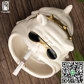 煙灰缸陶迷家用狗陶瓷防風防飛灰【海闊天空】
