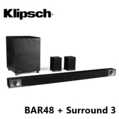 Klipsch 古力奇 Soundbar BAR-48 + Surround 3 無線環繞喇叭 5.1聲道劇院組 公司貨