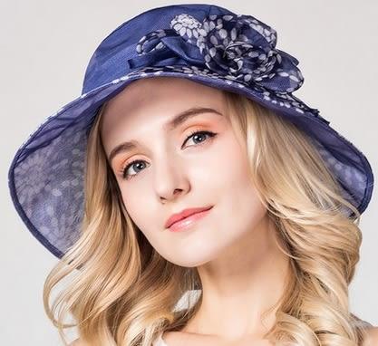 真絲遮陽帽防曬太陽帽桑蠶絲可折疊沙灘帽子   -charle0049