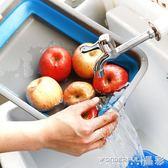折疊水盆 可折疊方形臉盆冷熱旅行便攜式水盆洗衣盆創意家居家用日本衛生間 晶彩生活