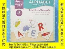 二手書博民逛書店ALPHABET罕見PAIRED CARD bear,giraffe,whale MEMO GAME WITH L