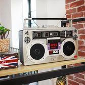 雕像擺飾品 復古工業風裝飾品老式卡帶收音機模型咖啡館酒吧服裝店陳列擺設