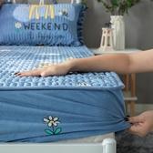 珊瑚絨防水床笠單件加厚隔尿透氣夾棉床墊罩席夢思保護套法蘭床罩 名購新品
