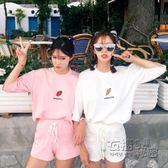 運動服夏季套裝女學生兩件套新款韓版寬鬆短袖短褲休閒運動服潮夏天 衣櫥秘密